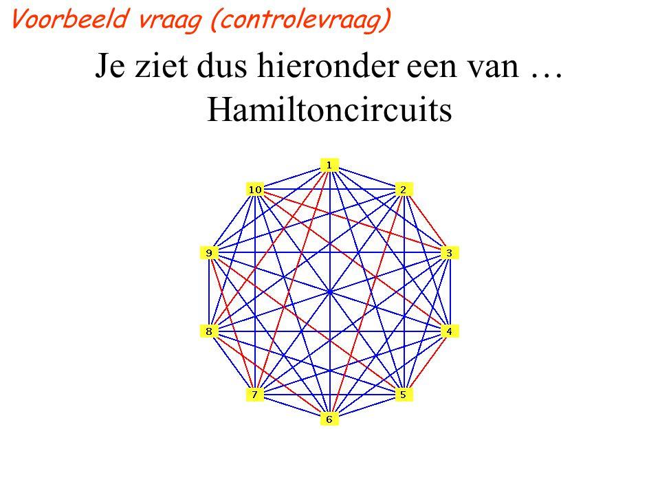 Je ziet dus hieronder een van … Hamiltoncircuits Voorbeeld vraag (controlevraag)