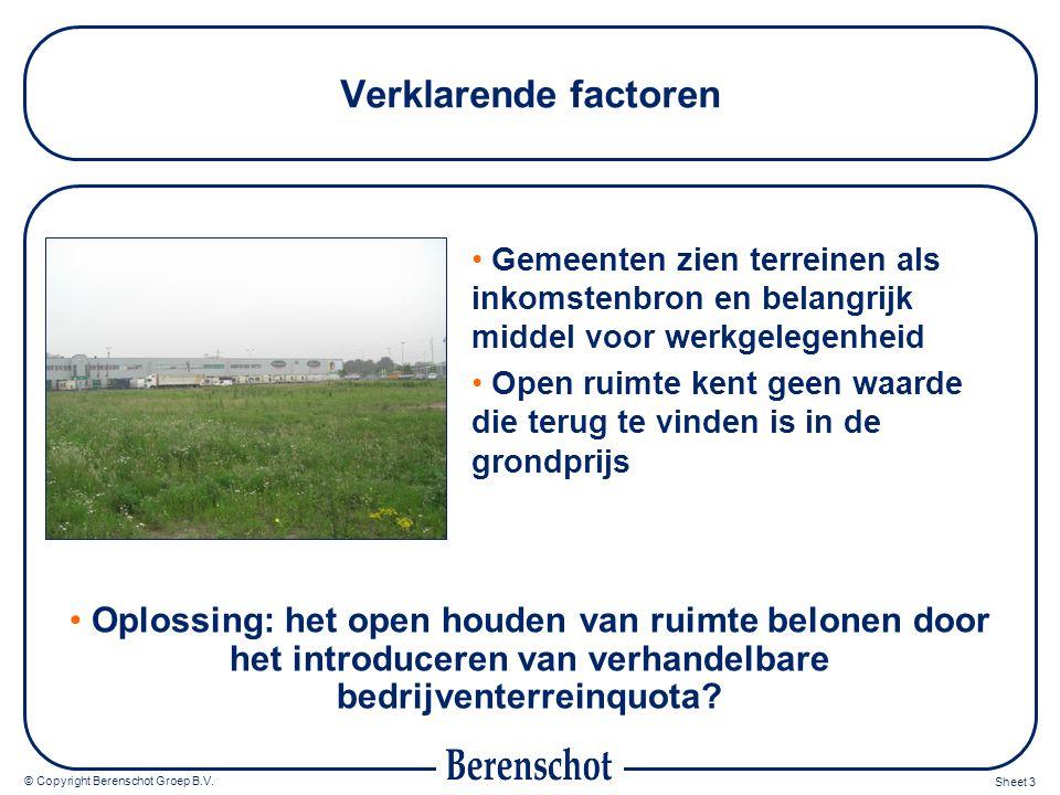 © Copyright Berenschot Groep B.V.Sheet 4 Wat zijn Verhandelbare Bedrijventerreinquota.