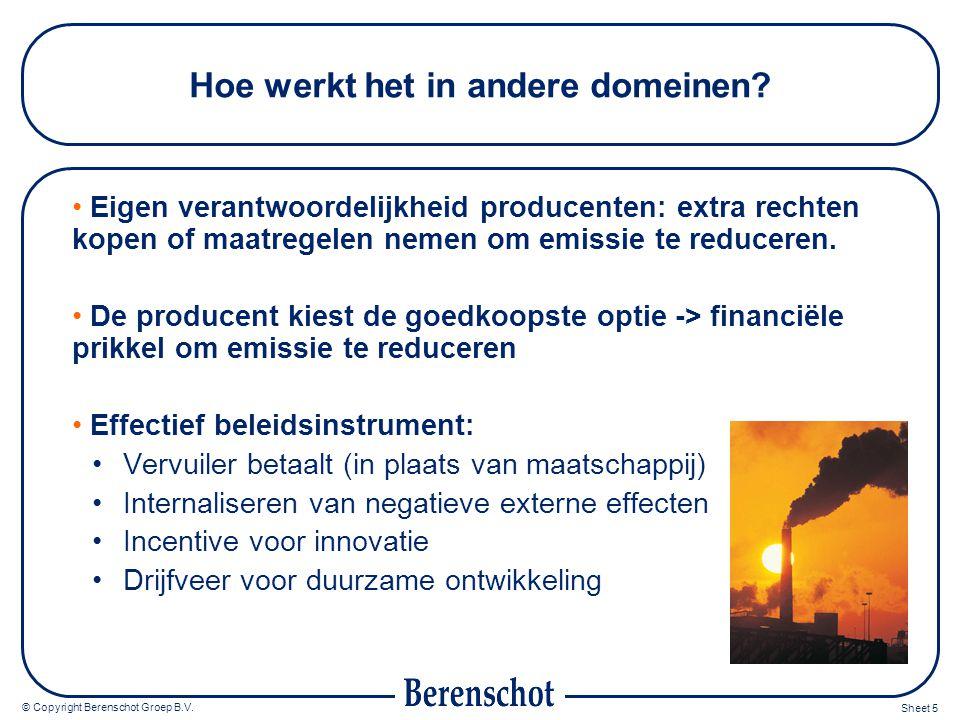 © Copyright Berenschot Groep B.V. Sheet 5 Hoe werkt het in andere domeinen.