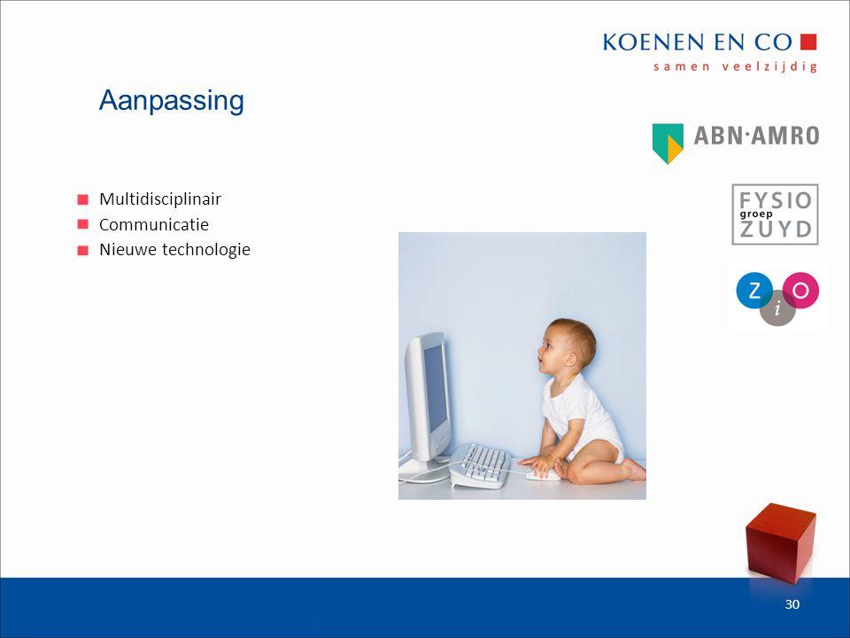 Aanpassing Multidisciplinair Communicatie Nieuwe technologie 30