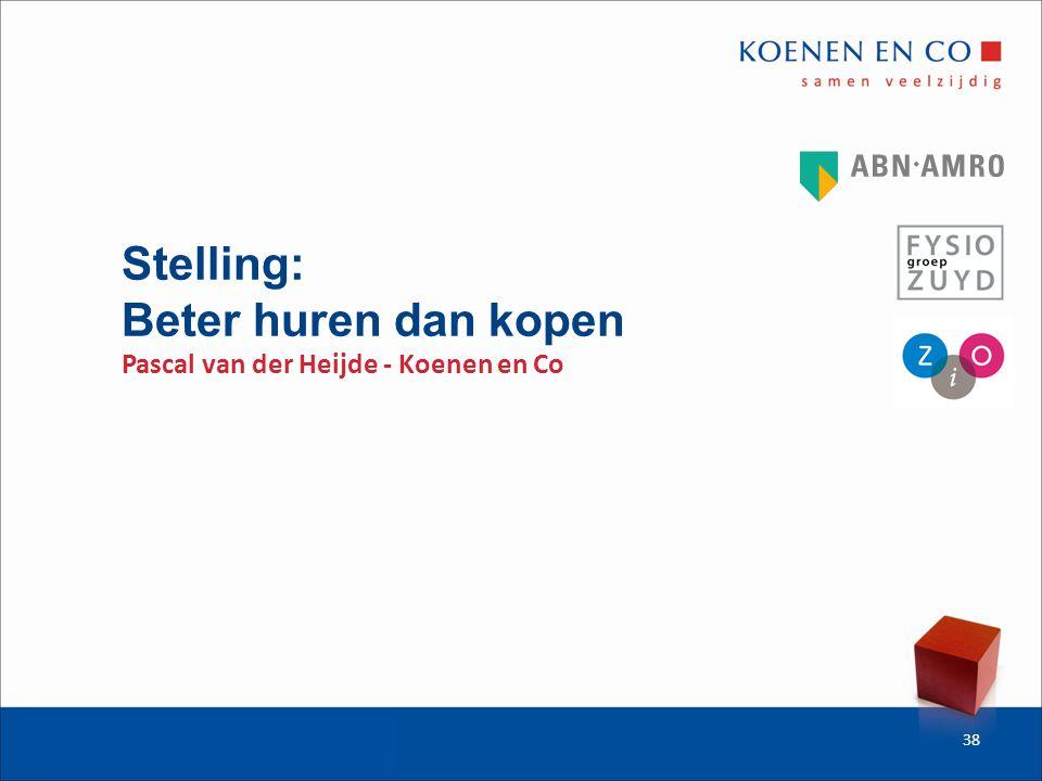 Stelling: Beter huren dan kopen Pascal van der Heijde - Koenen en Co 38