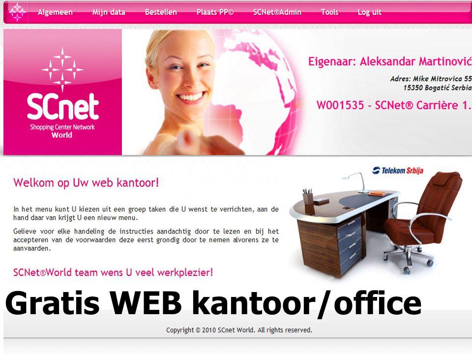 Gratis WEB kantoor/office