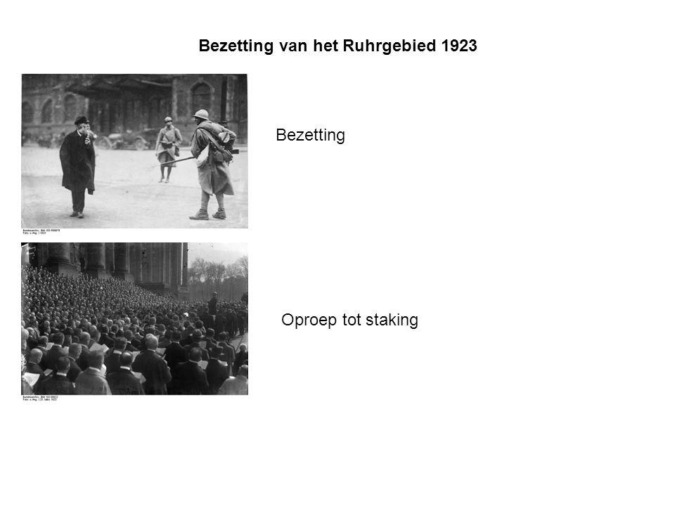 Bezetting van het Ruhrgebied 1923 Bezetting Oproep tot staking