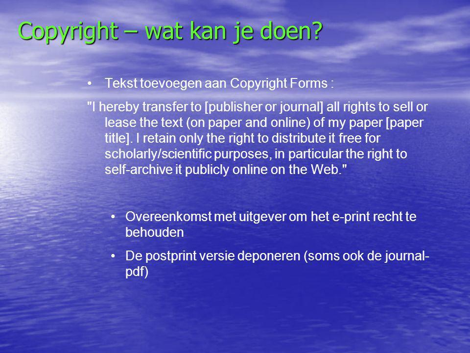 Copyright – wat kan je doen.