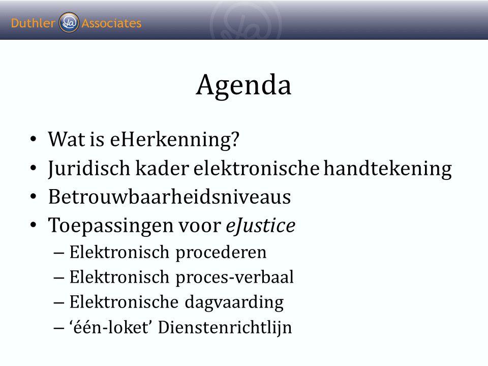 Agenda • Wat is eHerkenning.