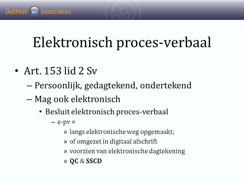 Elektronisch proces-verbaal • Art.