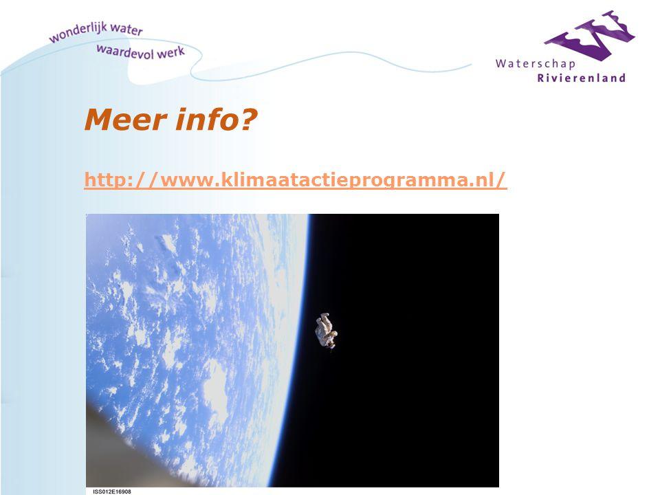 Meer info? http://www.klimaatactieprogramma.nl/