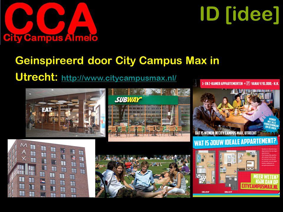 ID [idee] • idee vertalen naar schaal Almelo • transformatie stadhuis • place 2 be voor wonen en werken • jonge mensen • flexibiliteit = toverwoord • werk creëren; platform en netwerk • aanverwante functies voor aangrenzend kantoordistrict • impact voor Almelo
