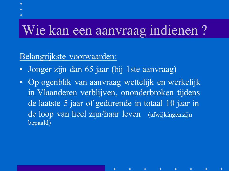BVR van 13 juli 2001 •Tegemoetkoming voor hulpmiddelen/aanpassingen die, door de behoefte die voortvloeit uit de beperking(en), noodzakelijk zijn voor de sociale integratie •Advies in 3 lijnen •Flexibel inspelen op technologische vernieuwing