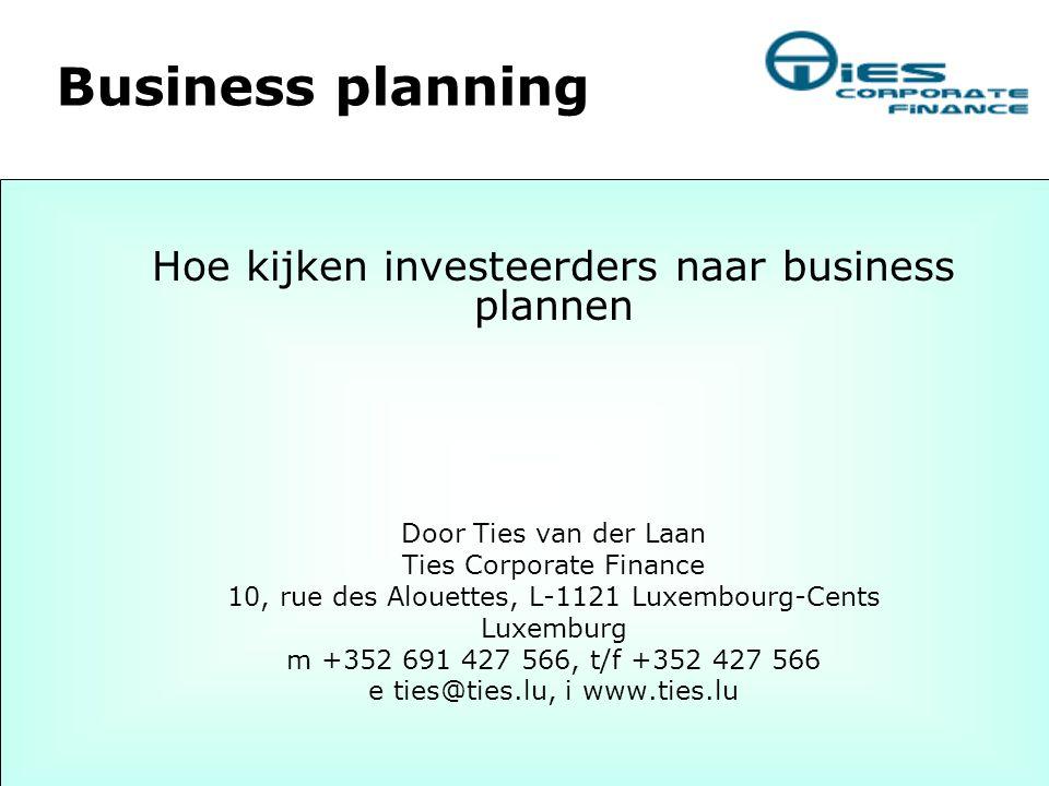 Wie ik ben Na 11 jaar ING Groep waarvan bijna 10 in de Nederlandse venture capital industrie coach ik sinds 1999 vanuit Luxemburg entrepreneurs en teams bij het aantrekken van financiering, eerst via project LIFT en sinds 2002 als onafhankelijke business coach.