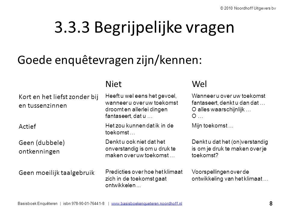 8 Basisboek Enquêteren | isbn 978-90-01-76441-8 | www.basisboekenqueteren.noordhoff.nlwww.basisboekenqueteren.noordhoff.nl © 2010 Noordhoff Uitgevers