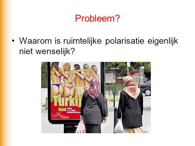 Probleem? •Waarom is ruimtelijke polarisatie eigenlijk niet wenselijk?