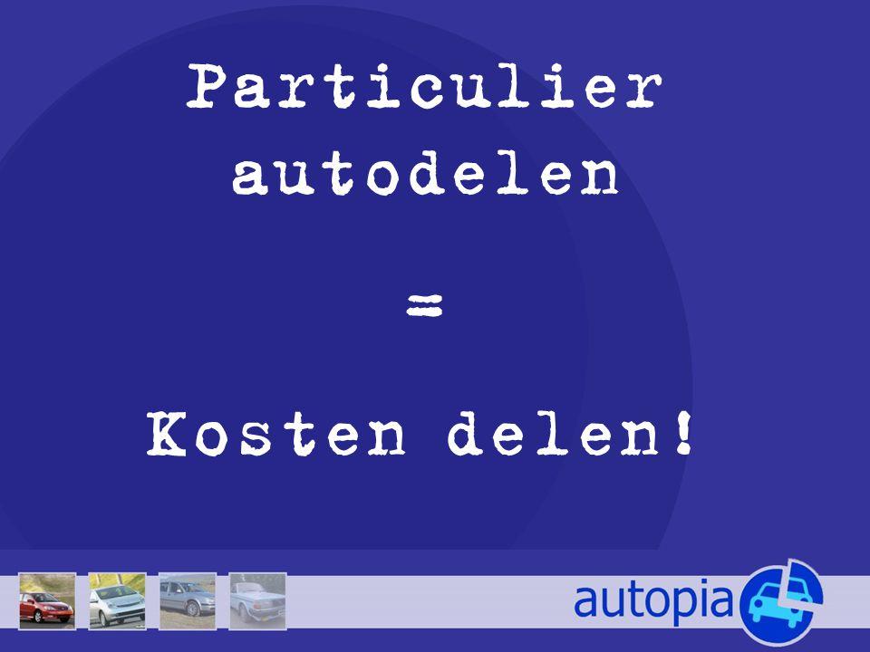 Particulier autodelen = Kosten delen!