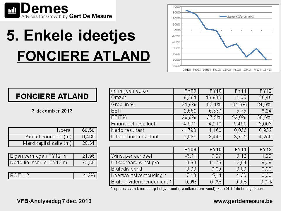 www.gertdemesure.beVFB-Analysedag 7 dec. 2013 5. Enkele ideetjes FONCIERE ATLAND
