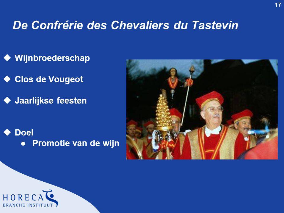 17 De Confrérie des Chevaliers du Tastevin uWijnbroederschap uClos de Vougeot uJaarlijkse feesten uDoel l Promotie van de wijn