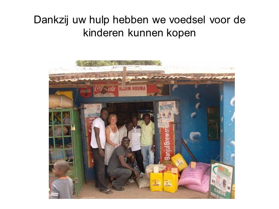 Dankzij uw hulp hebben we voedsel voor de kinderen kunnen kopen