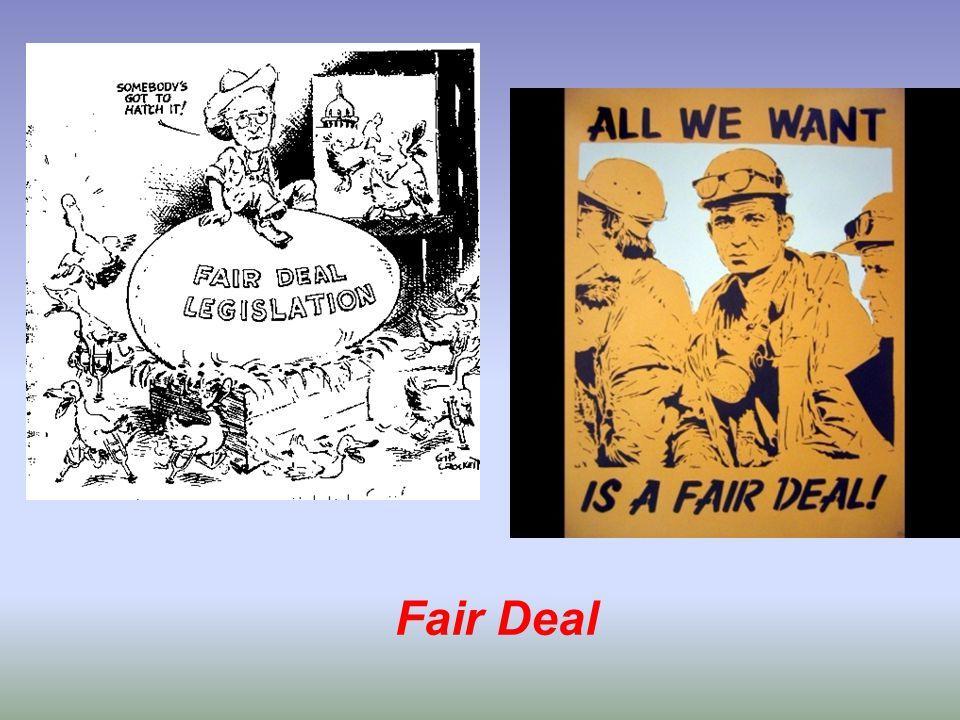4.1 Het Rode Gevaar •McCarthyisme –De anticommunistische hysterie bereikte haar hoogtepunt omstreeks 1950 •China wordt communistisch (1949) •De SU test de A-bom •En senator McCarthy zag overal spionnen, verraders en landgenoten die soft on communism waren •Onder McCarthy ontstond een ware heksenjacht op vermeende communisten •Tijdens hearing (dus geen rechtszaken) werden mensen beschuldigd van communistische sympathieën of communist zijn