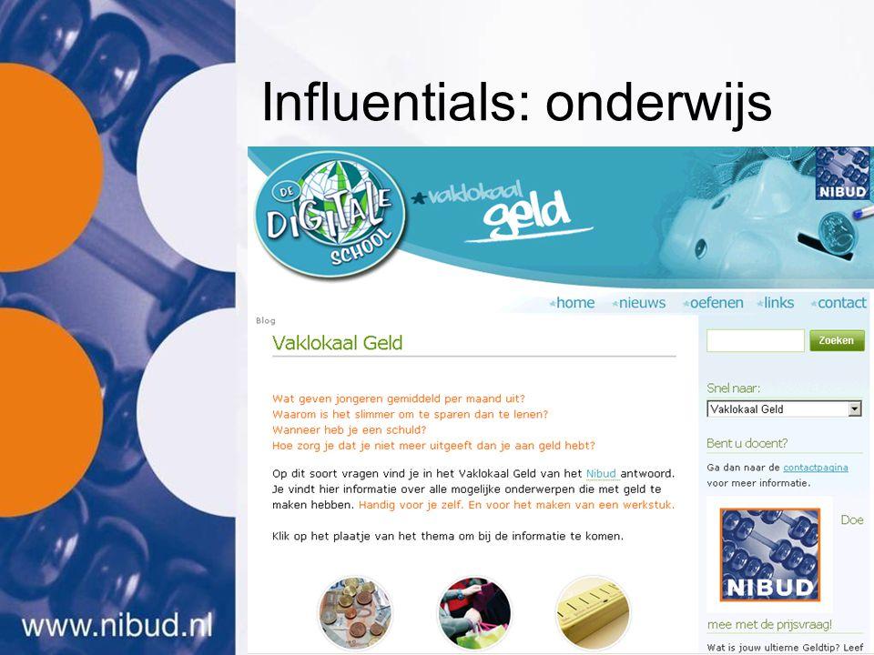 Influentials: onderwijs