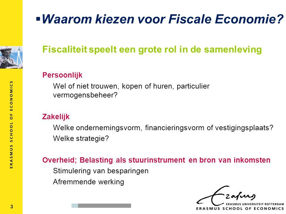  Waarom kiezen voor Fiscale Economie.