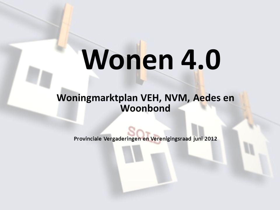 Wonen 4.0 Woningmarktplan VEH, NVM, Aedes en Woonbond Provinciale Vergaderingen en Verenigingsraad juni 2012