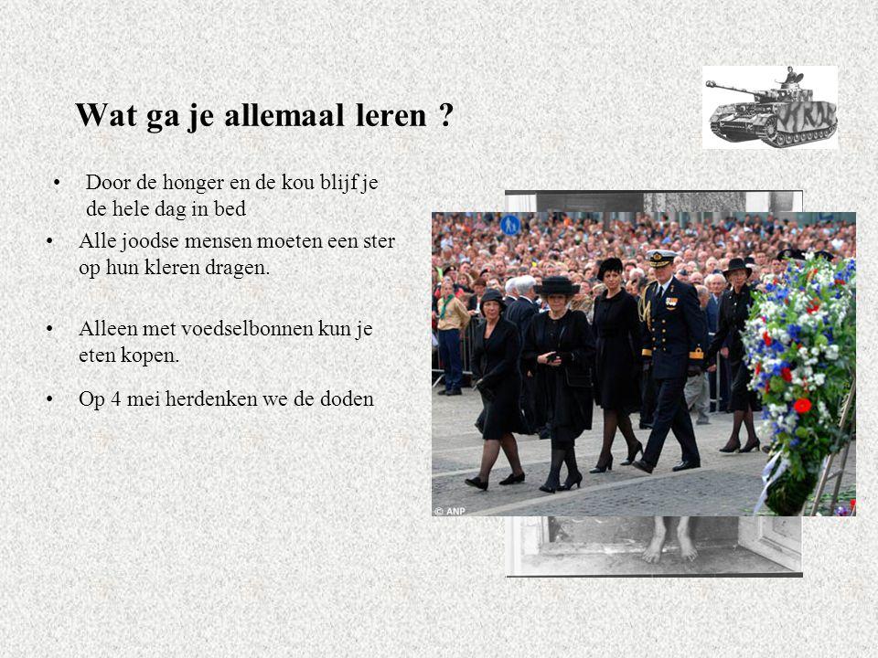 Als de bommen vallen… Speurtocht Hoofdstuk 4 Nederland bezet Les 1: