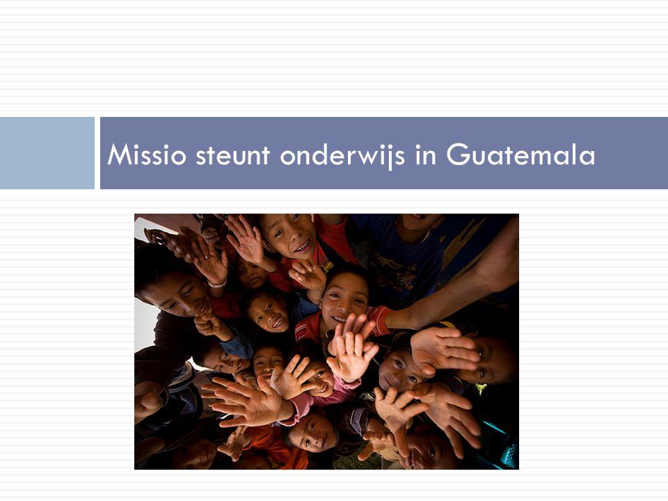 Missio steunt onderwijs in Guatemala