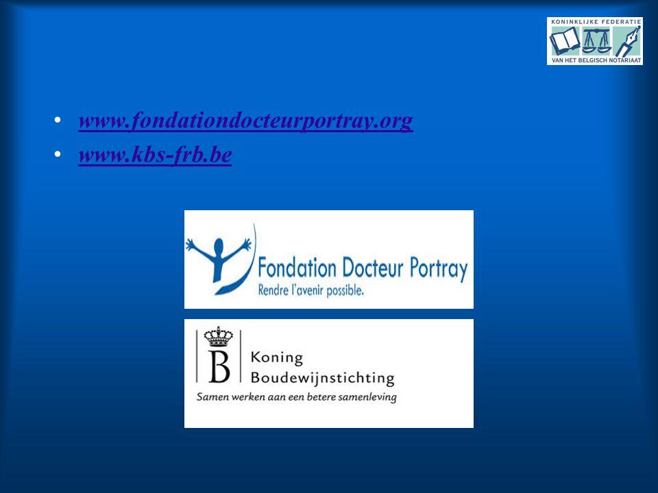 •www.fondationdocteurportray.orgwww.fondationdocteurportray.org •www.kbs-frb.bewww.kbs-frb.be