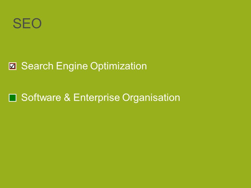 SEO Search Engine Optimization Software & Enterprise Organisation