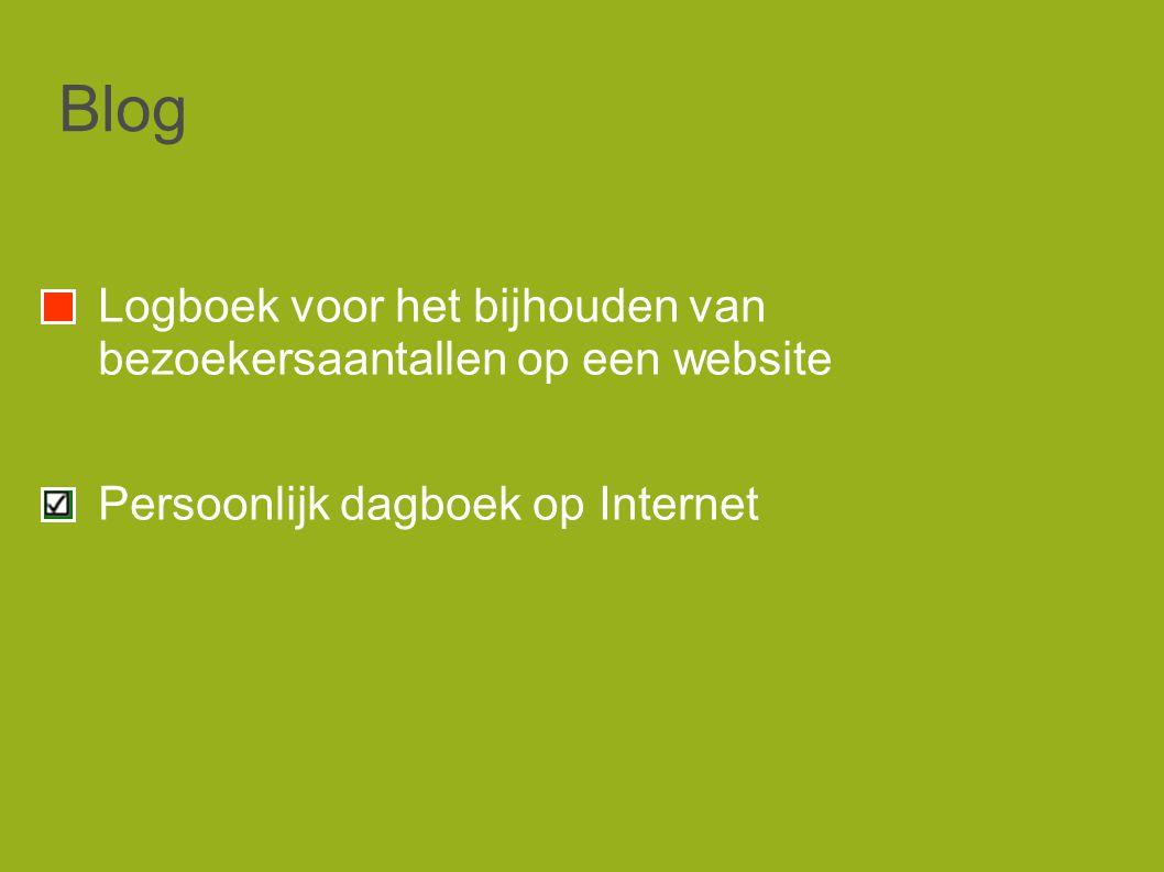 Blog Logboek voor het bijhouden van bezoekersaantallen op een website Persoonlijk dagboek op Internet