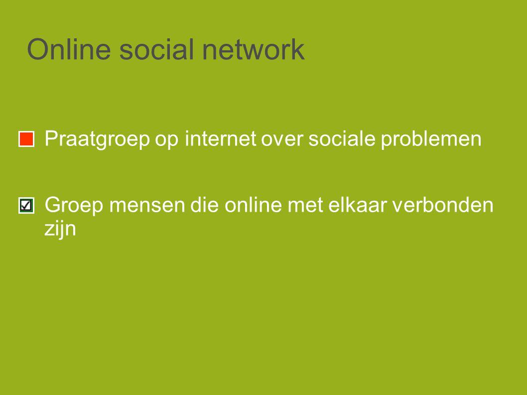 Online social network Praatgroep op internet over sociale problemen Groep mensen die online met elkaar verbonden zijn