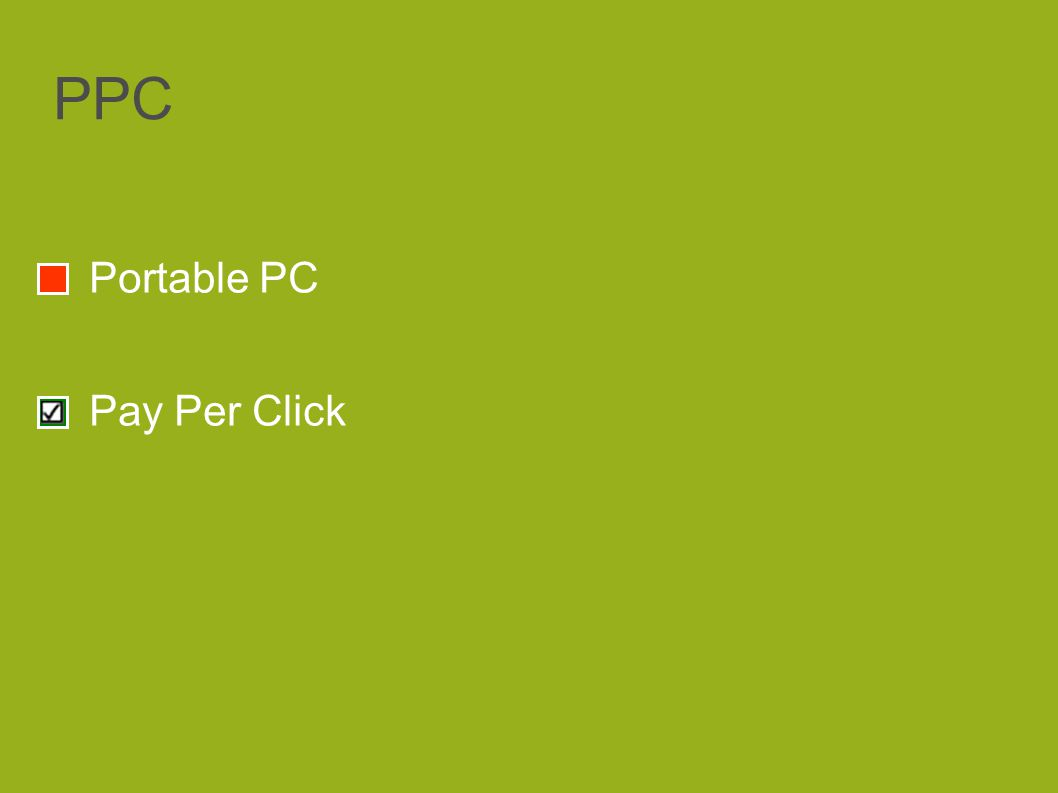 PPC Portable PC Pay Per Click