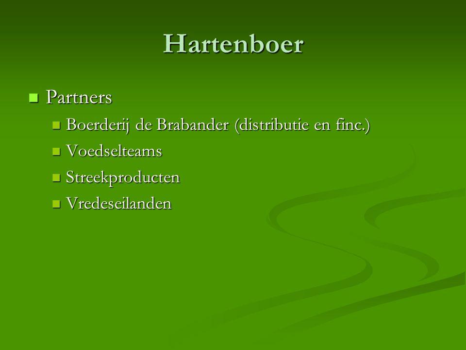 Hartenboer  Partners  Boerderij de Brabander (distributie en finc.)  Voedselteams  Streekproducten  Vredeseilanden