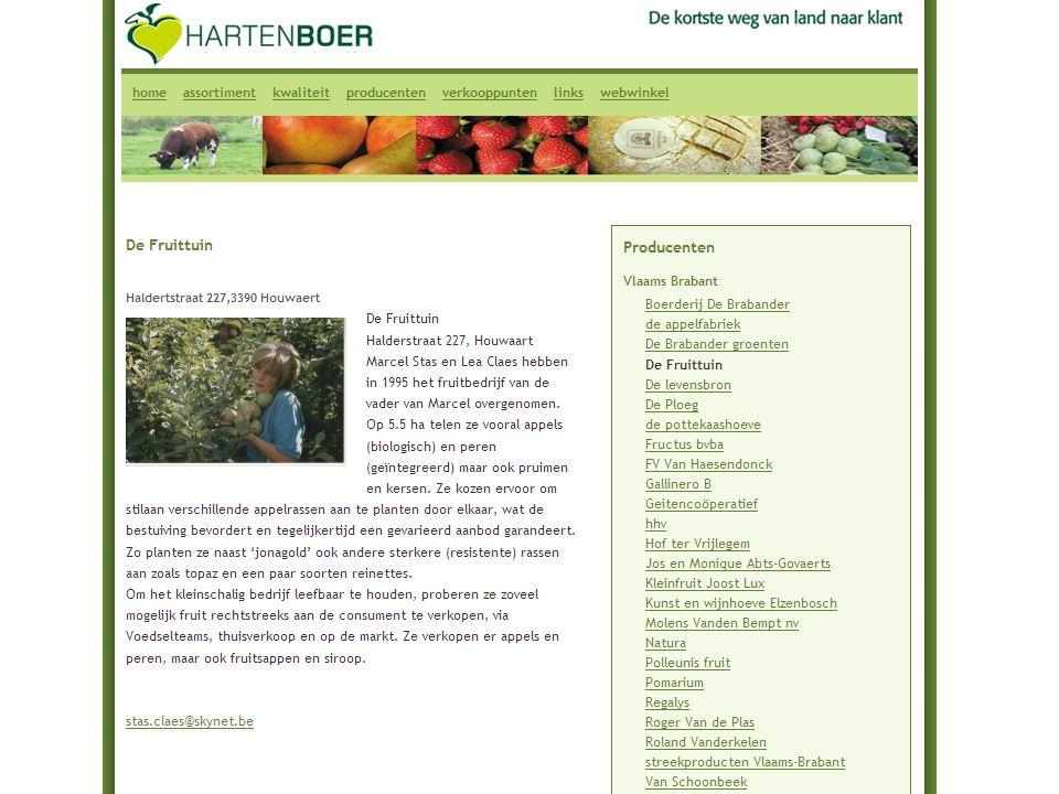 Hartenboer WEBWINKEL producenten BestellenAfrekening