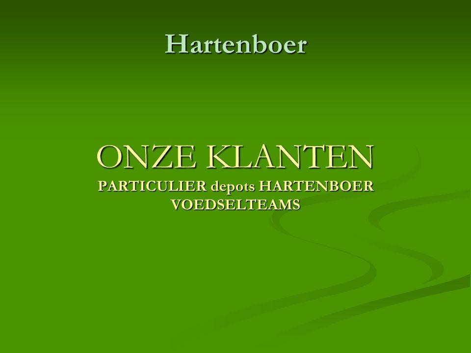 Hartenboer ONZE KLANTEN PARTICULIER depots HARTENBOER VOEDSELTEAMS