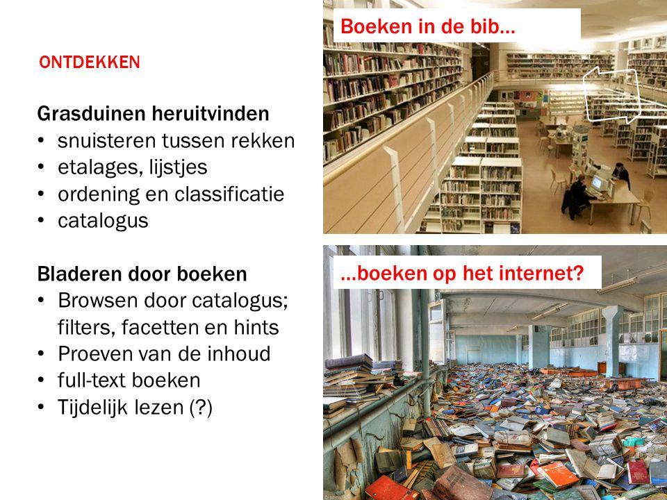 Hier staat de titel Inzet van Vlaams E-boek Platform Hybride Lezen Verrijkte Content Centrale focus op • 'meer' gebruikservaring • faciliterende software • verzamelen van e-boeken Door het gedeeld platform met boekenvak • Aanbieden van een nieuwe service • Bekomen van licentieakkoorden Volume Grasduinen