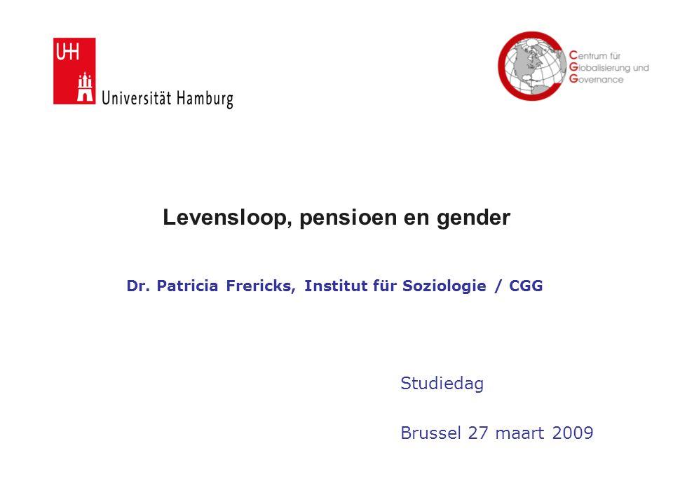 Levensloop, pensioen en gender Dr.