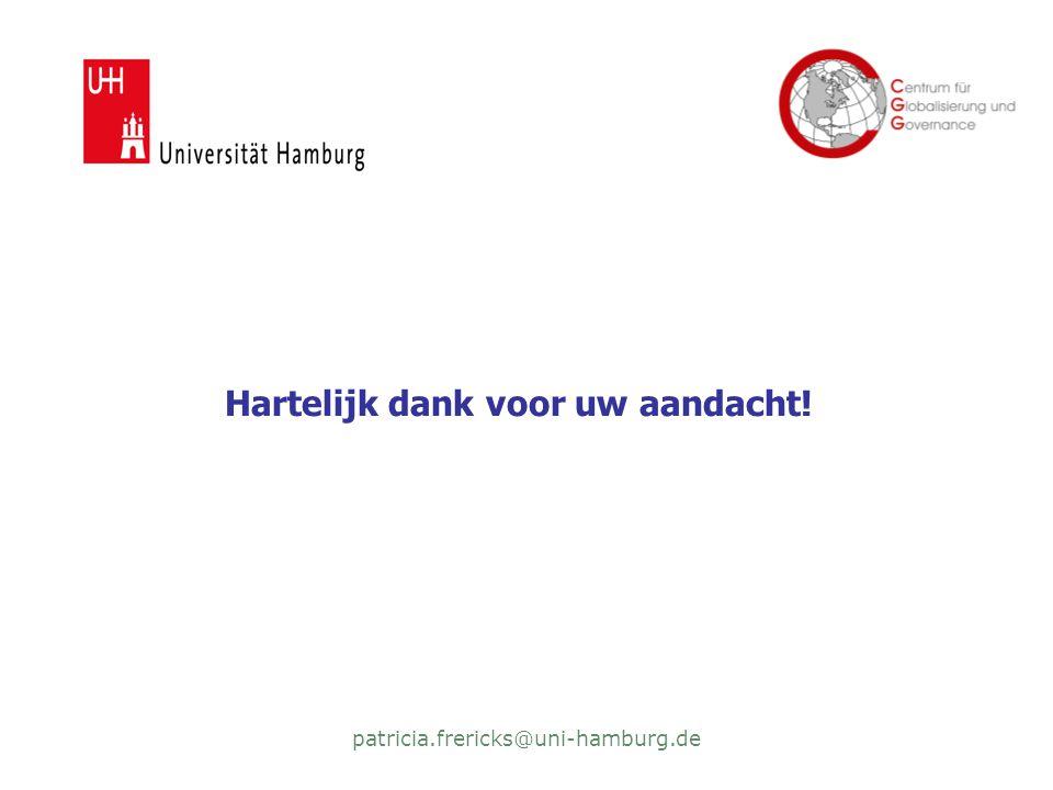 patricia.frericks@uni-hamburg.de Hartelijk dank voor uw aandacht!