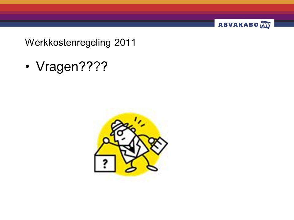 Werkkostenregeling 2011 •Vragen????