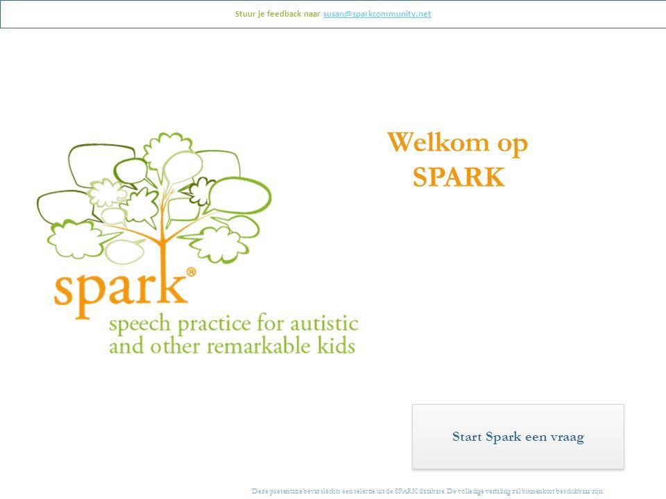 Deze presentatie bevat slechts een selectie uit de SPARK database.