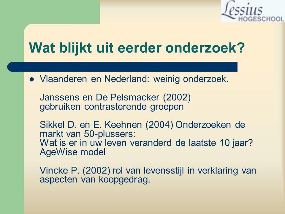 Wat blijkt uit eerder onderzoek. Vlaanderen en Nederland: weinig onderzoek.