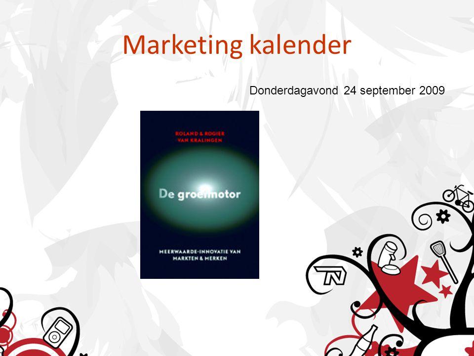 Marketing kalender Donderdagavond 24 september 2009
