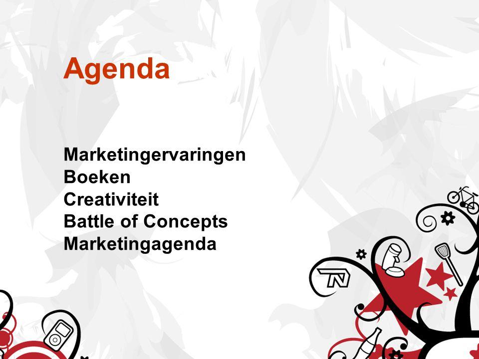 Agenda Marketingervaringen Boeken Creativiteit Battle of Concepts Marketingagenda