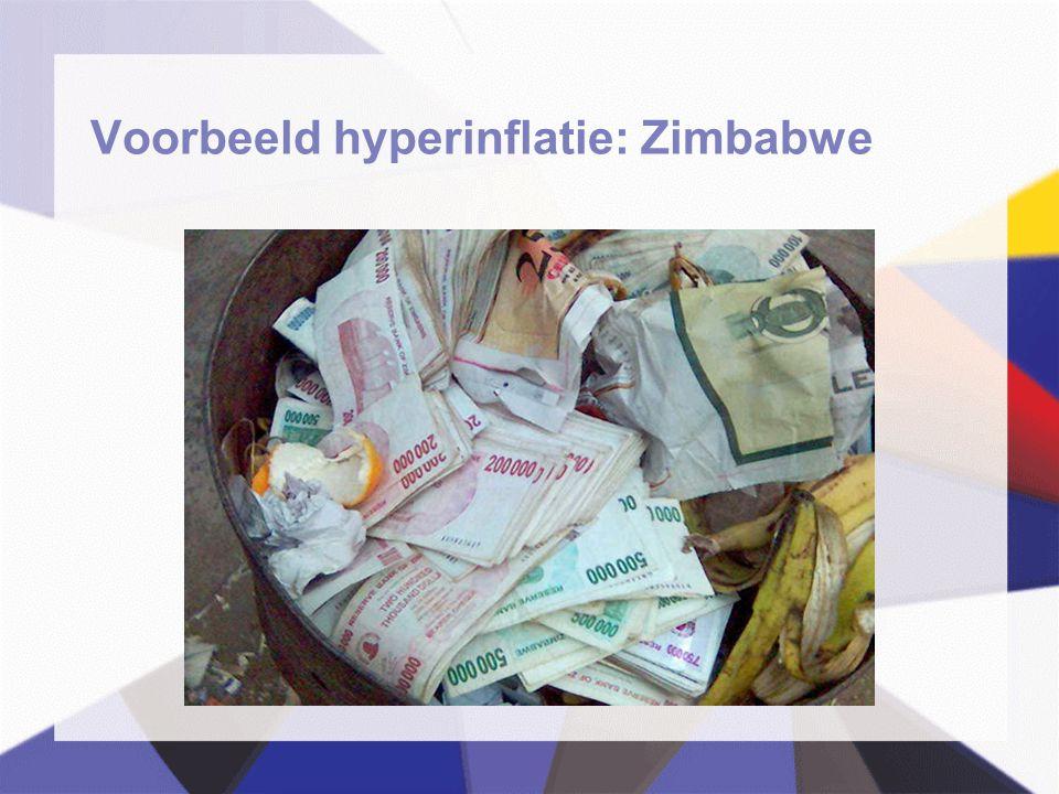 Voorbeeld hyperinflatie: Zimbabwe