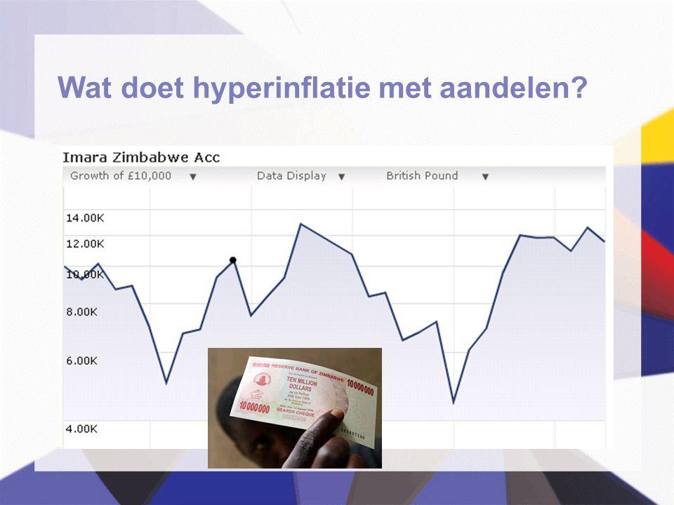 Wat doet hyperinflatie met aandelen