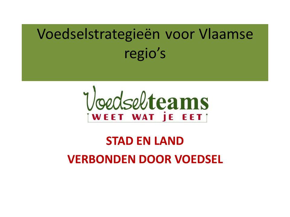 Voedselstrategieën voor Vlaamse regio's STAD EN LAND VERBONDEN DOOR VOEDSEL