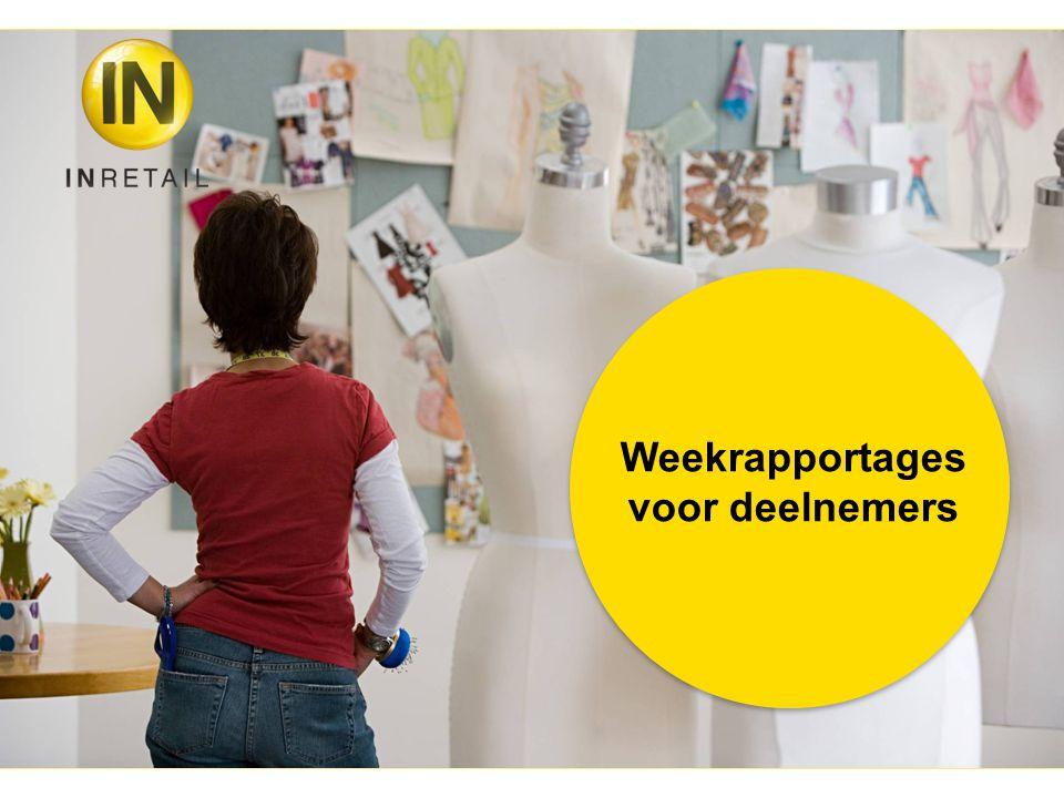 Wekelijkse informatie voor deelnemers: Sector Bovenmode (outerwear) Beenmode (legwear) Ondermode (underwear) Schoenen (shoes) Accessoires (pers.