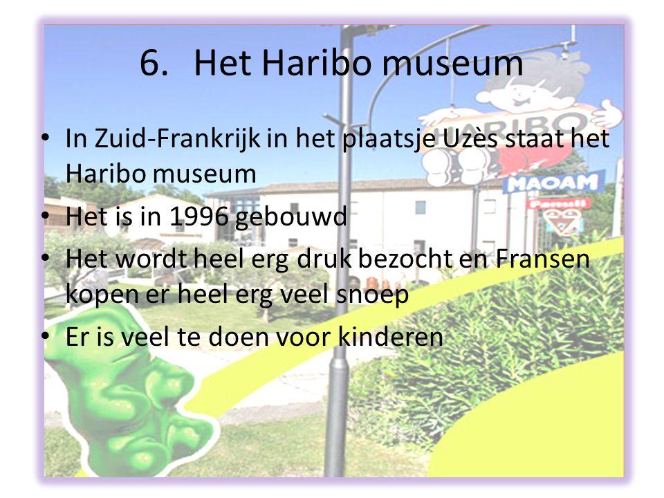 5. Maoam • Het is in 1930 opgericht • Maoam is onderdeel van de Haribo-groep sinds 1986 • In 2002 kwam het voor het eerst op de televisie in Nederland