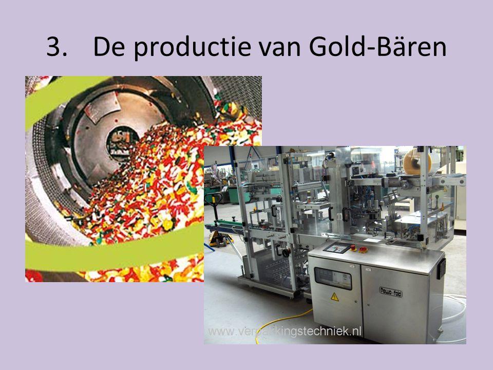3. De productie van Gold-Bären • Gummi arabicum ontdenkt in de 19 e eeuw • Samen met fruit en suiker krijg je Gold-bären • Eerst wordt een mal gemaakt
