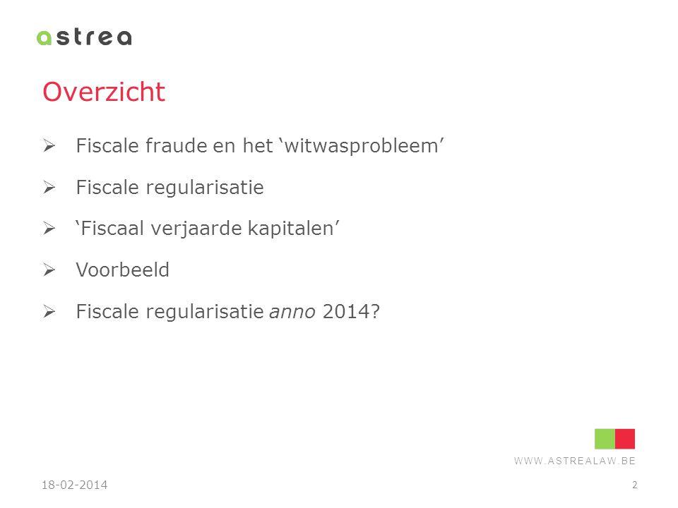 WWW.ASTREALAW.BE Fiscale fraude en het 'witwasprobleem' 18-02-2014 3