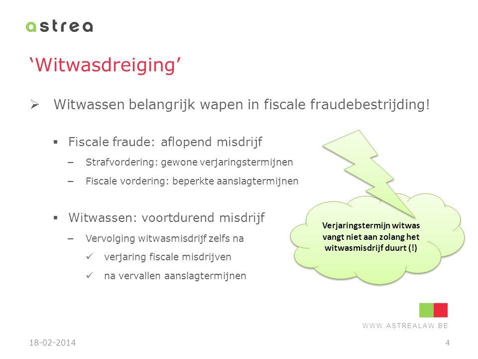 WWW.ASTREALAW.BE Wanneer witwasmisdrijf.Algemeen  Illegaal vermogensvoordeel (art.